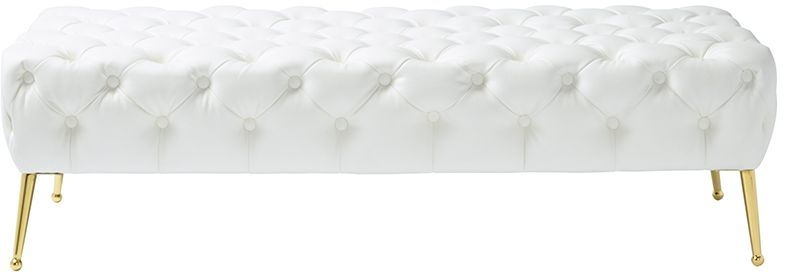 Serene Savannah Aspen White and Gold Bench