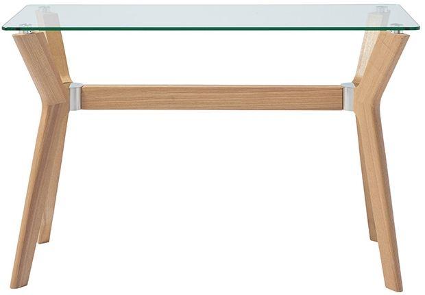 Serene Marbella Console Table - Glass and Oak
