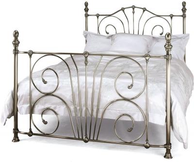 Serene Jessica Antique Nickel 4ft 6in Double Metal Bed