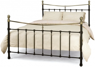 Serene Edwardian ll Black with Antique Bronze Metal Bed
