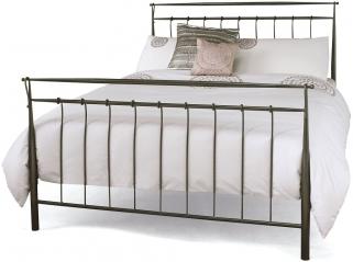Serene Elizabeth Titanium Grey Metal Bed