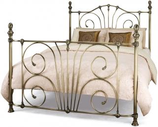 Serene Jessica Antique Brass Metal Bed