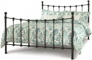 Serene Marseilles Black Metal Bed