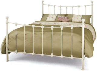 Serene Marseilles Ivory Gloss Metal Bed