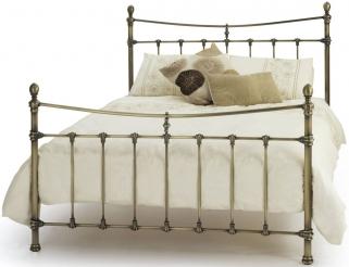 Serene Olivia Antique Brass Metal Bed