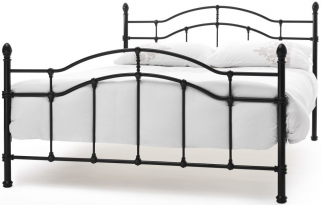 Serene Paris Black Metal Bed