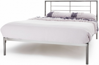 Serene Zeus Black Nickel Metal Bed