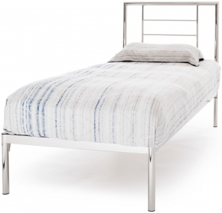 Serene Zeus Nickel Metal Bed - 3ft Single