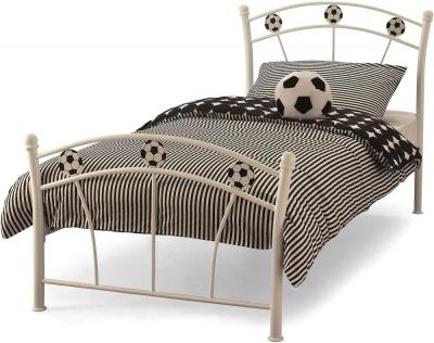 Soccer White Single Bed