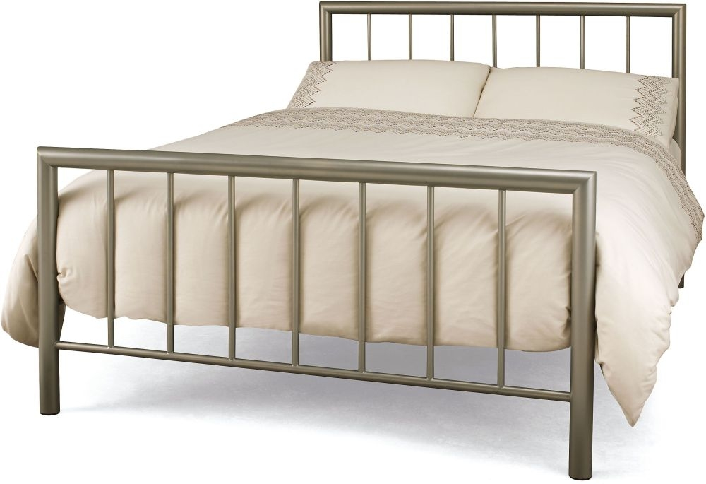 Modena Champagne Metal Bed