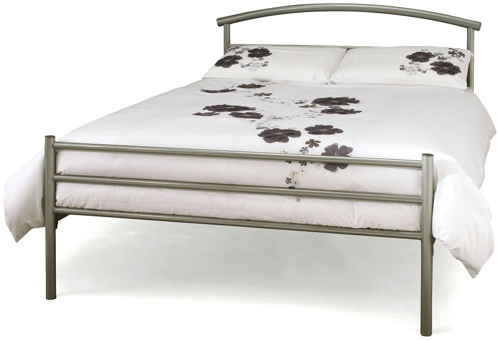 Serene Brennington Silver Metal Bed