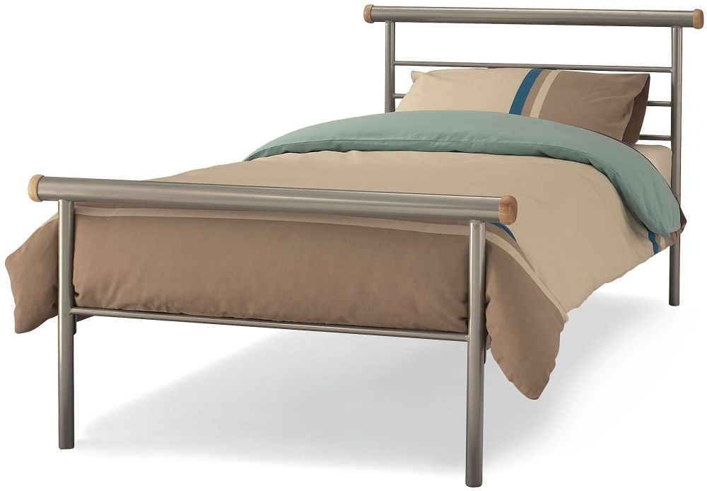 Serene Celine Silver Metal Bed - 3ft Single