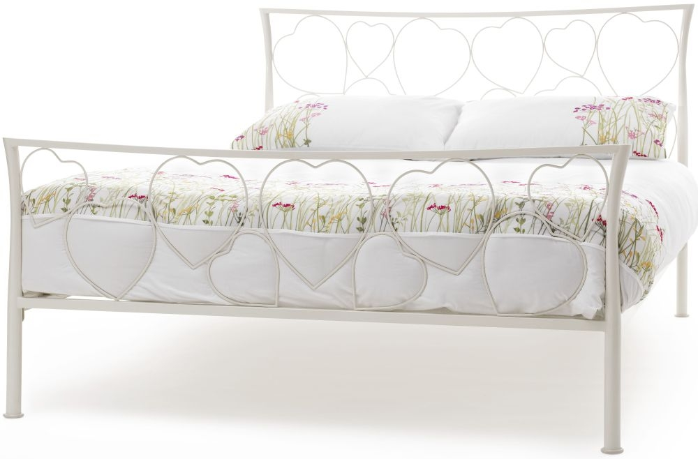 Serene Chloe Ivory Metal 3ft Bed
