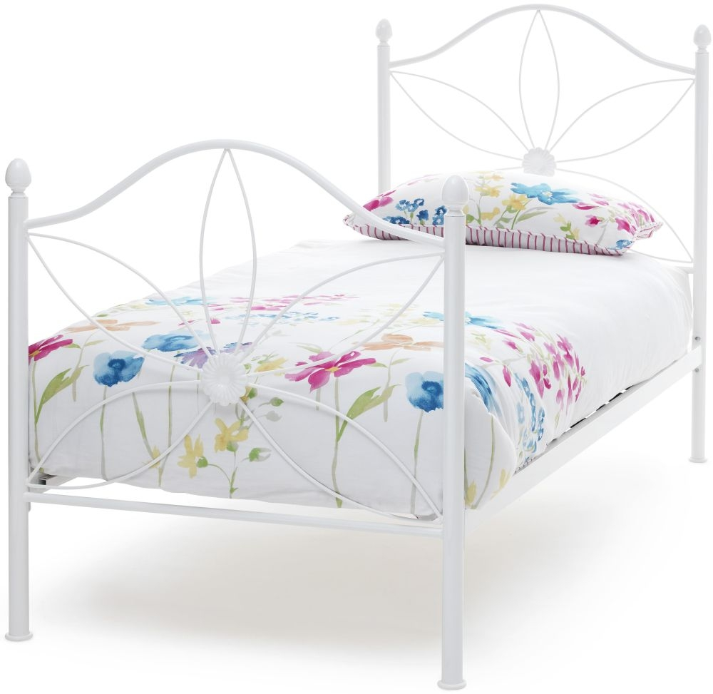 Serene Daisy 3ft White Metal Bed