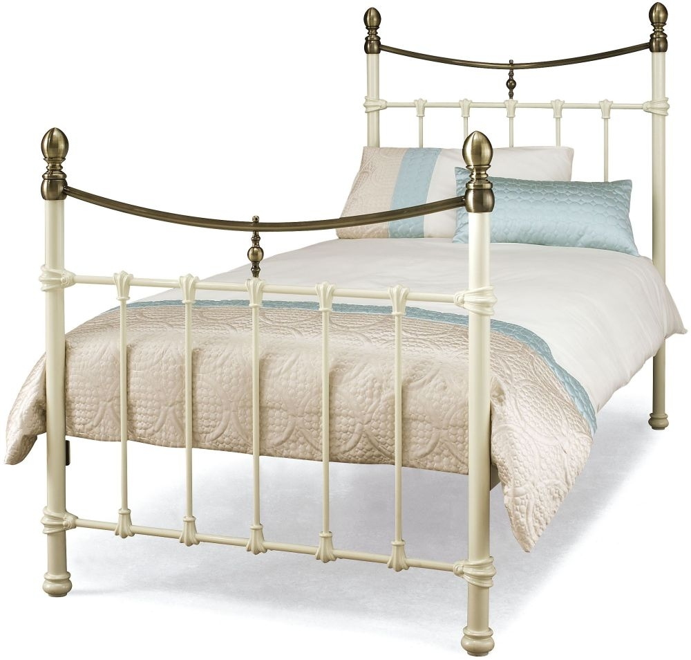 Serene Edwardian ll Ivory with Antique Bronze Metal Bed - 3ft Single