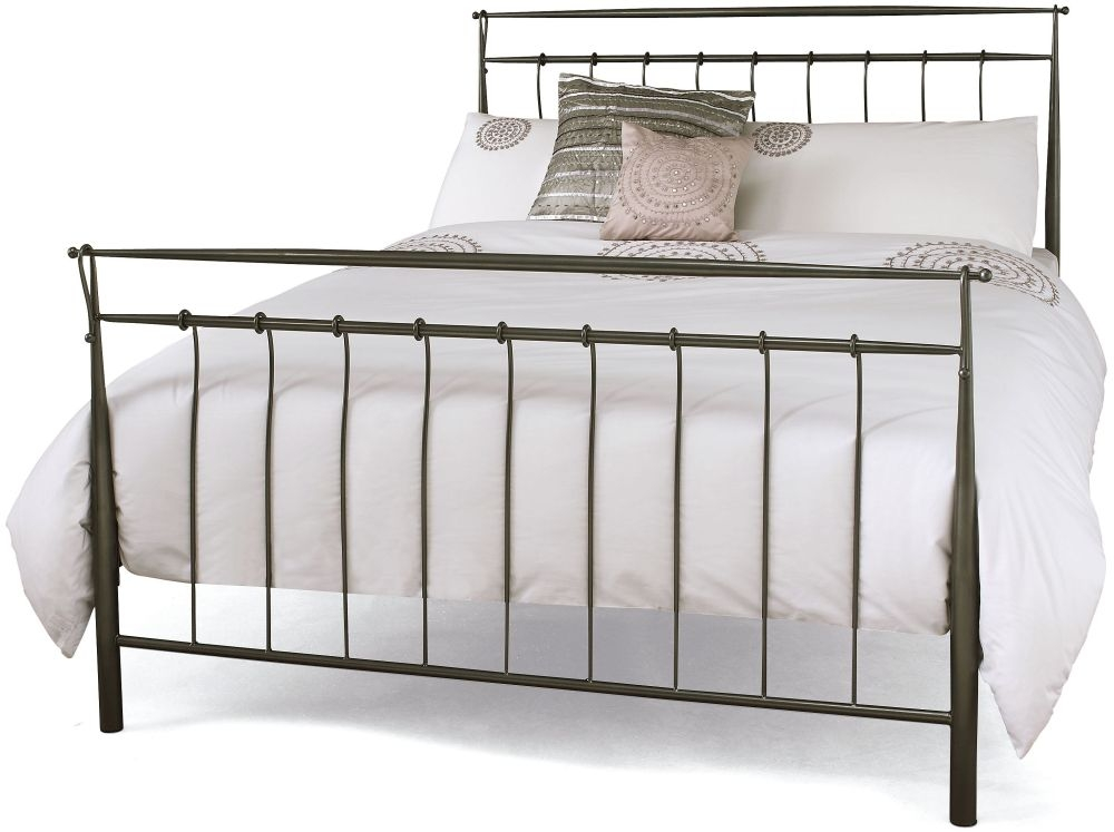 Serene Elizabeth Titanium Grey Metal Bed