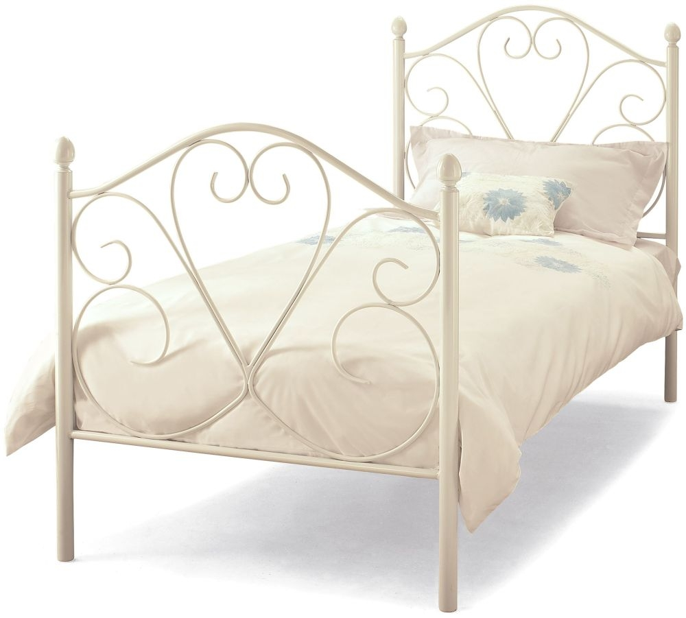 Serene Isabelle 3ft White Metal Bed