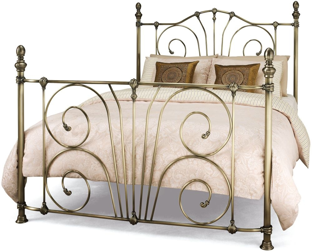 Serene Jessica Antique Brass Metal Bed