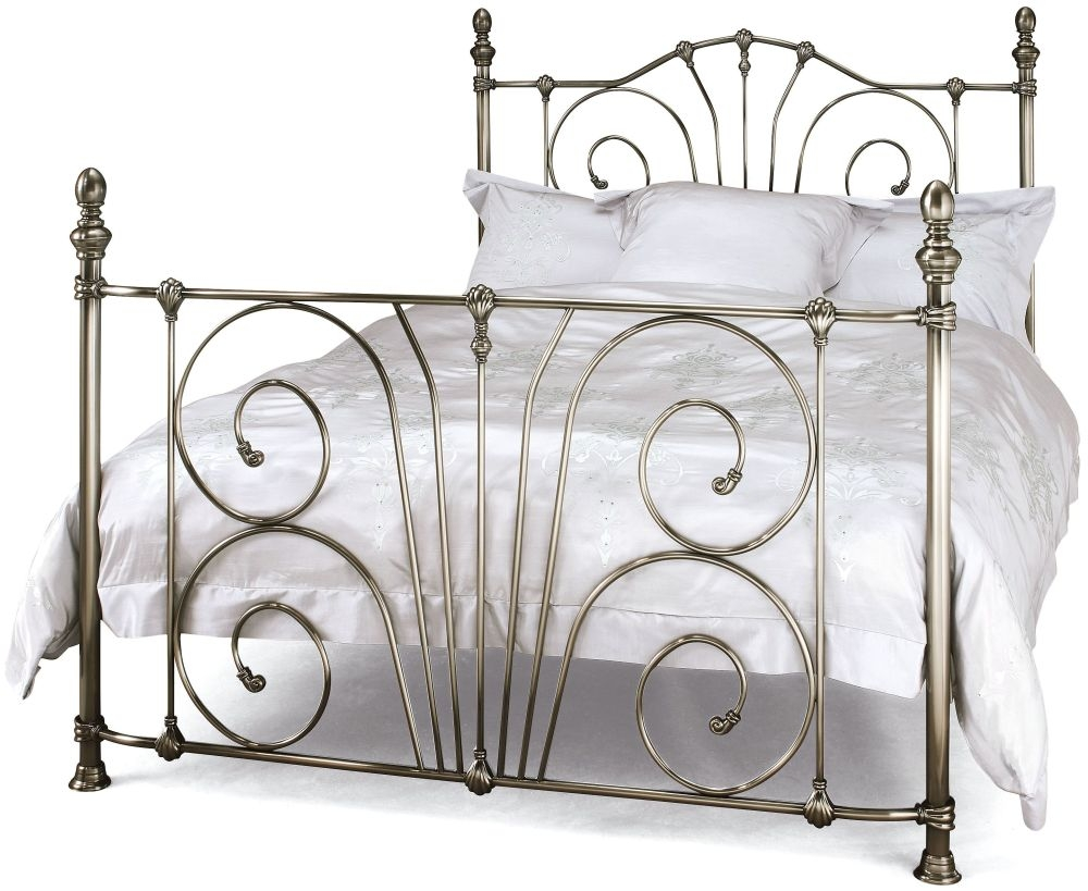 Serene Jessica Antique Nickel Metal Bed