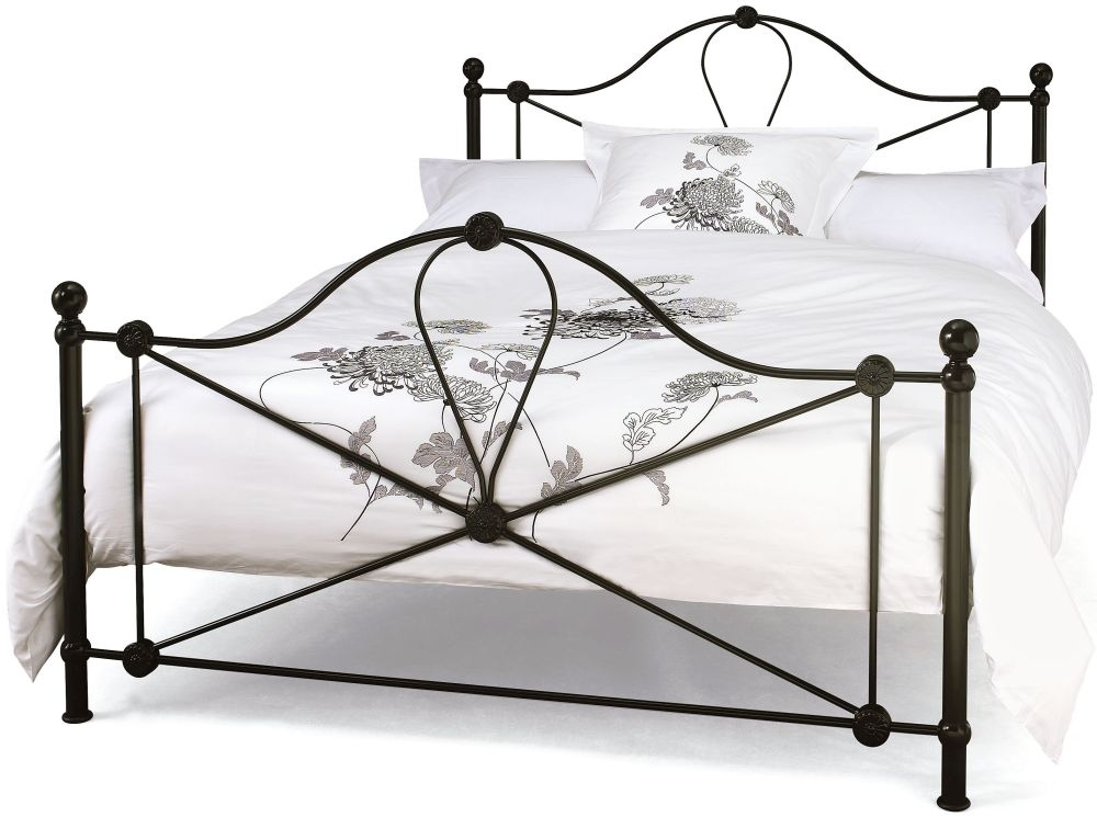 Serene Lyon Black Metal Bed