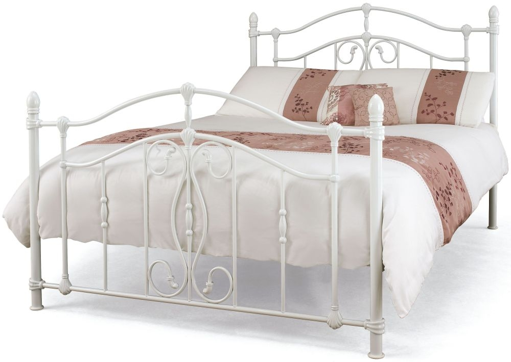 Serene Nice White Gloss Metal Bed