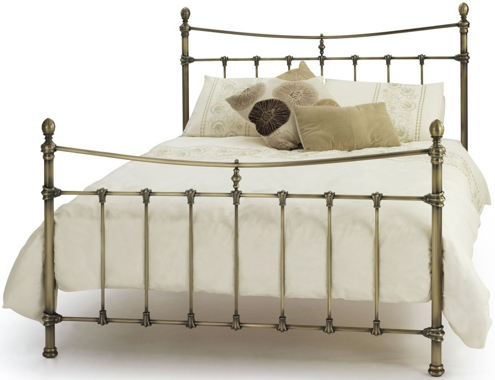 Serene Olivia Antique Brass Metal Bed