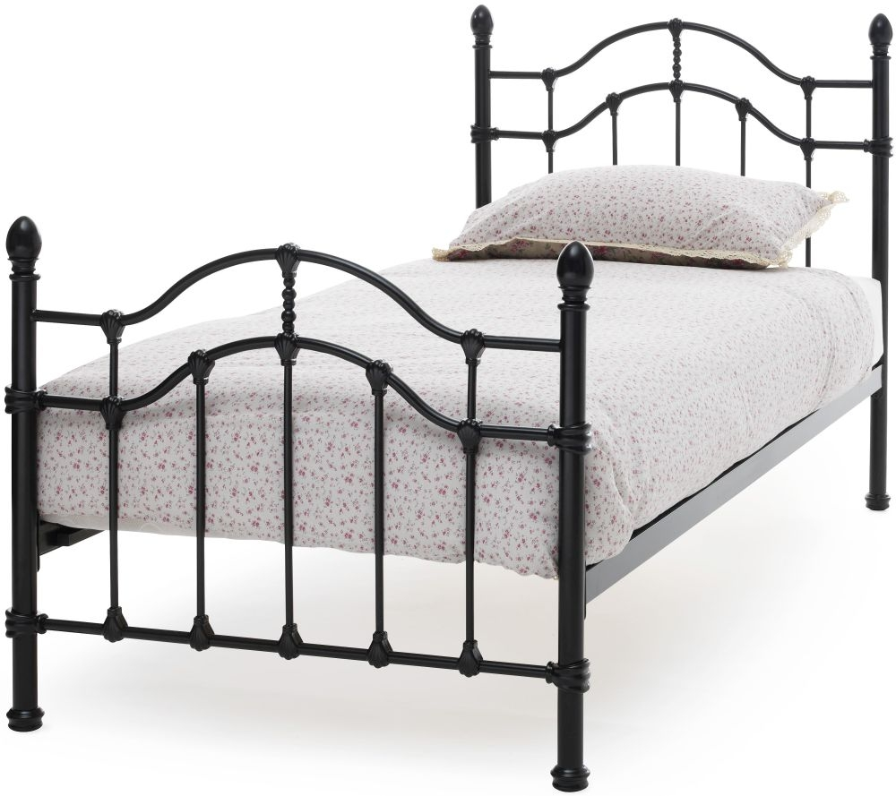 Serene Paris Black Metal Bed - 3ft Single