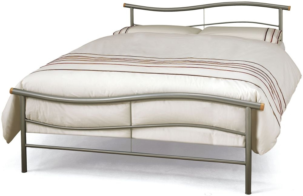 Serene Waverly Silver Metal Bed
