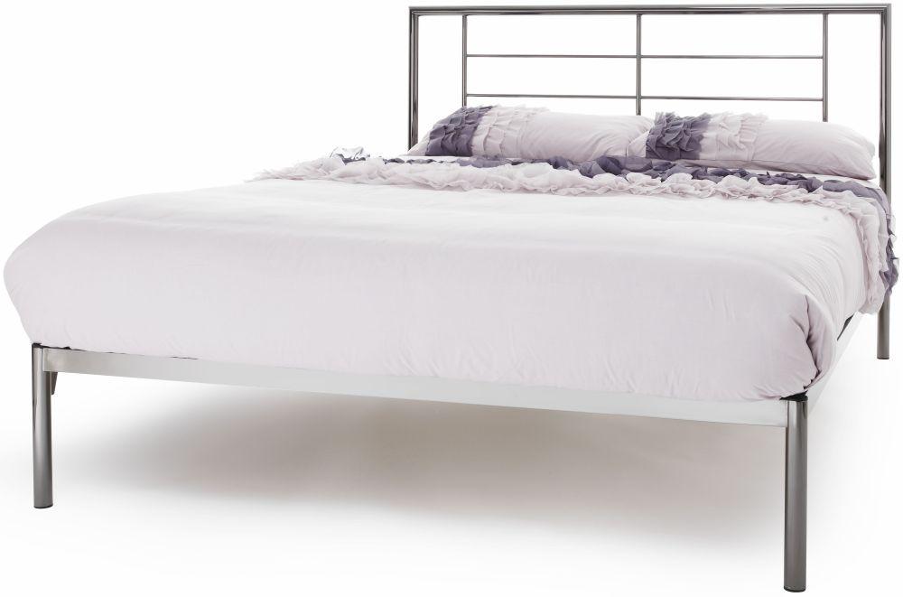 Serene Zeus Black Nickel Metal Bed