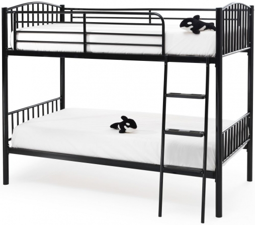 Serene Oslo Black Metal Twin Bunk Bed