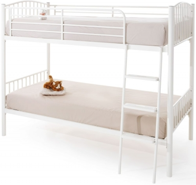 Oslo White Twin Bunk Bed