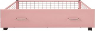 Serene Urban Pink Metal Storage Drawer