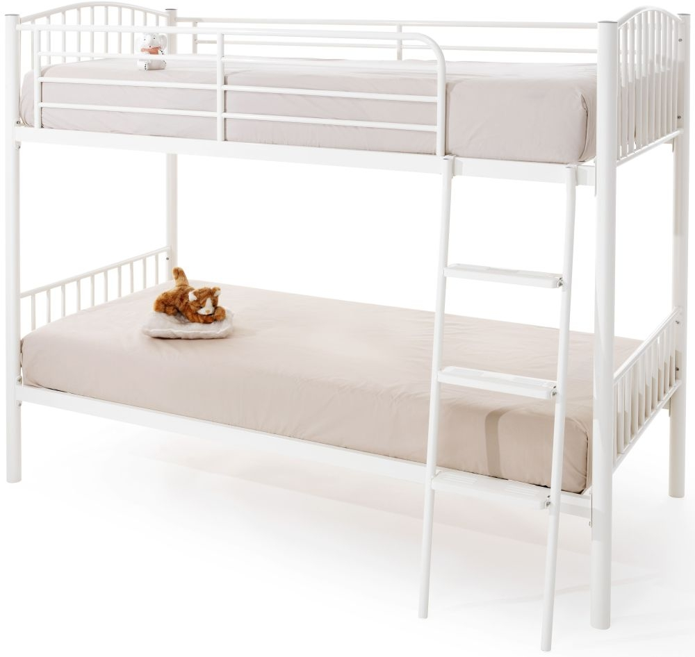 Oslo White Twin Bunk Bed