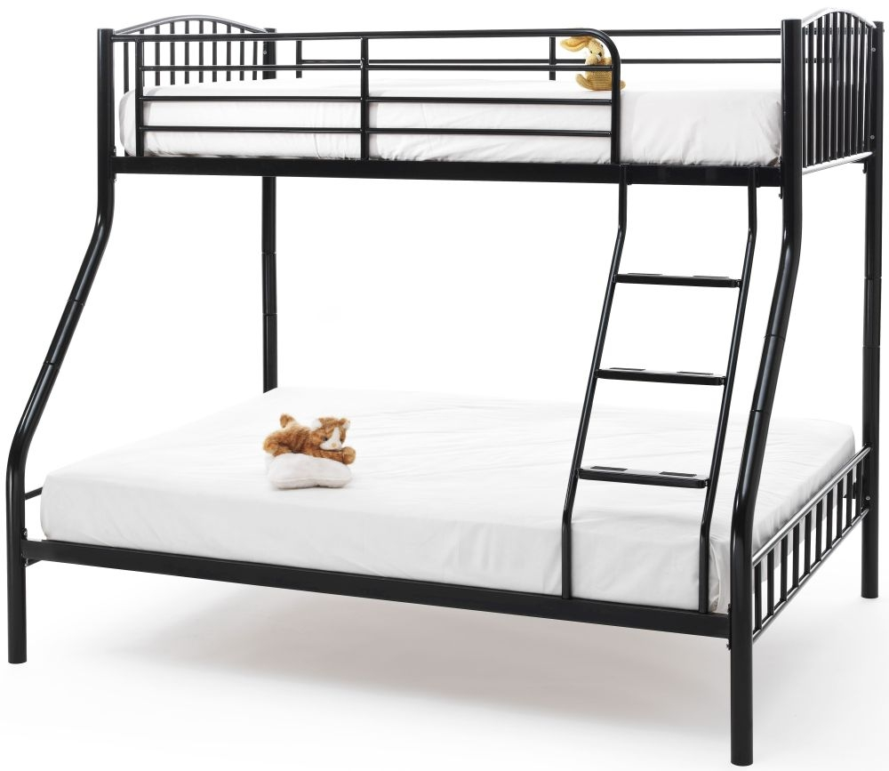 Serene Oslo Sleeper Black Metal Bunk Bed