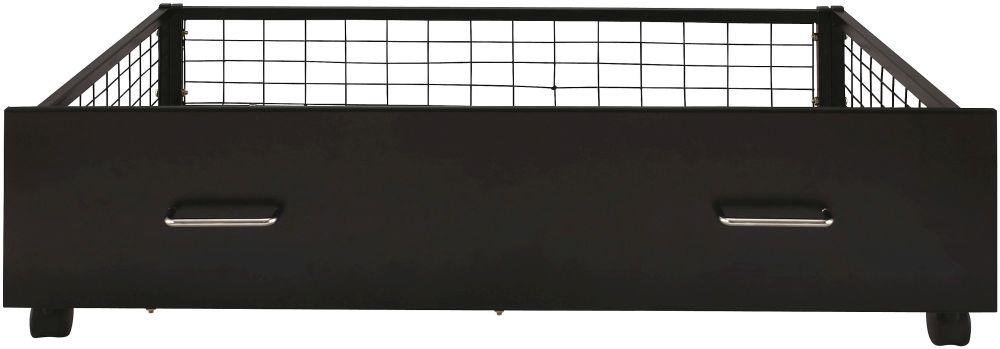 Serene Urban Black Metal Storage Drawer