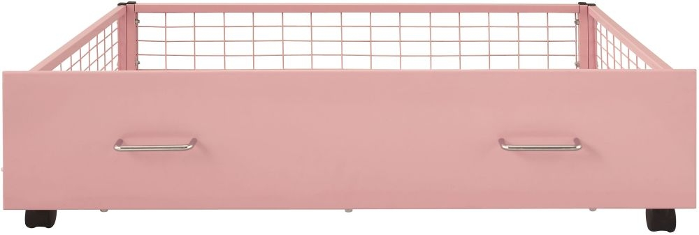 Serene Urban Pink Metal Storage Drawer
