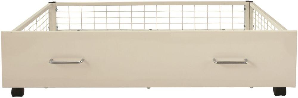Serene Urban White Metal Storage Drawer
