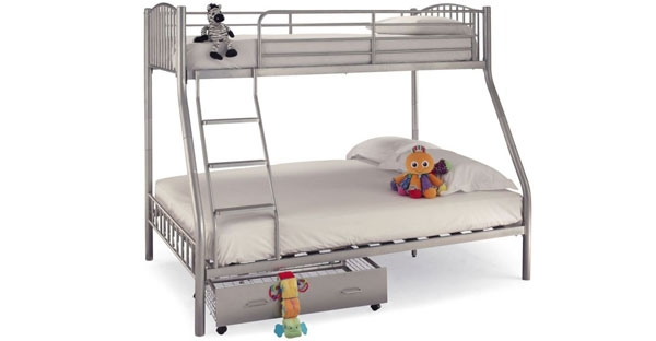 Serene Metal Bunk Beds and Drawers