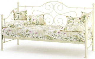 Serene Florence Ivory Metal Day Bed