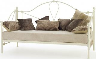 Serene Lyon Ivory Gloss Metal Day Bed