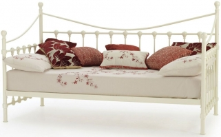 Serene Marseilles Ivory Gloss Metal Day Bed