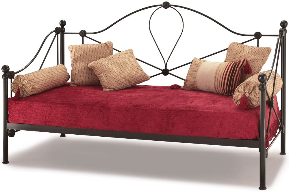 Serene Lyon Black Metal Day Bed