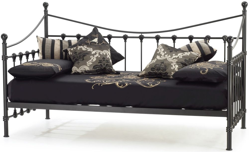 Serene Marseilles Black Metal Day Bed