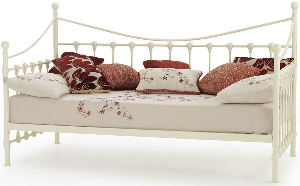 Serene Marseilles Ivory Metal Day Bed