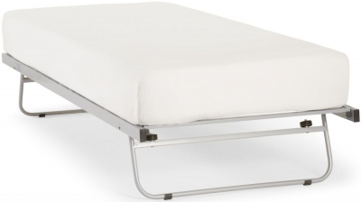 Serene Silver 3ft Single Metal Guest Bed
