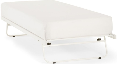 Serene White 3ft Single Metal Guest Bed
