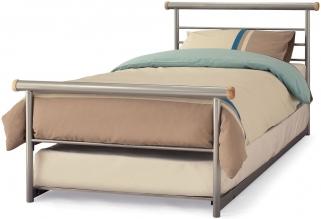 Serene Celine Silver Metal Guest Bed