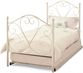 Serene Isabelle White Gloss Metal Guest Bed