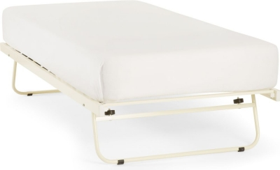 Serene Ivory Gloss Metal Guest Bed