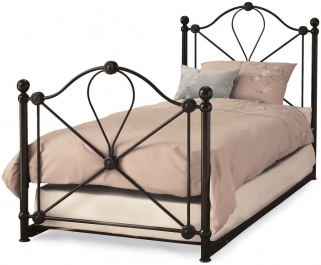 Serene Lyon Black Metal Guest Bed